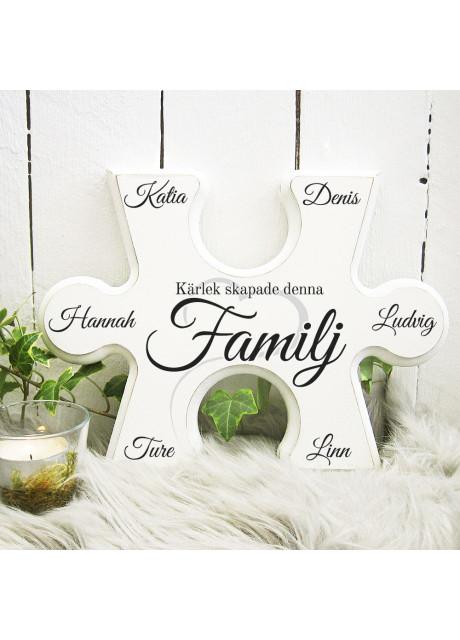 Pusselbit - Kärlek skapade denna Familj - Valfria namn ingår!