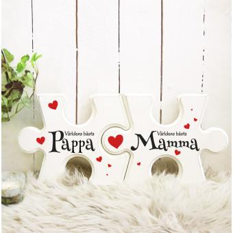 Pusselbitar-Mamma Pappa Världens bästa